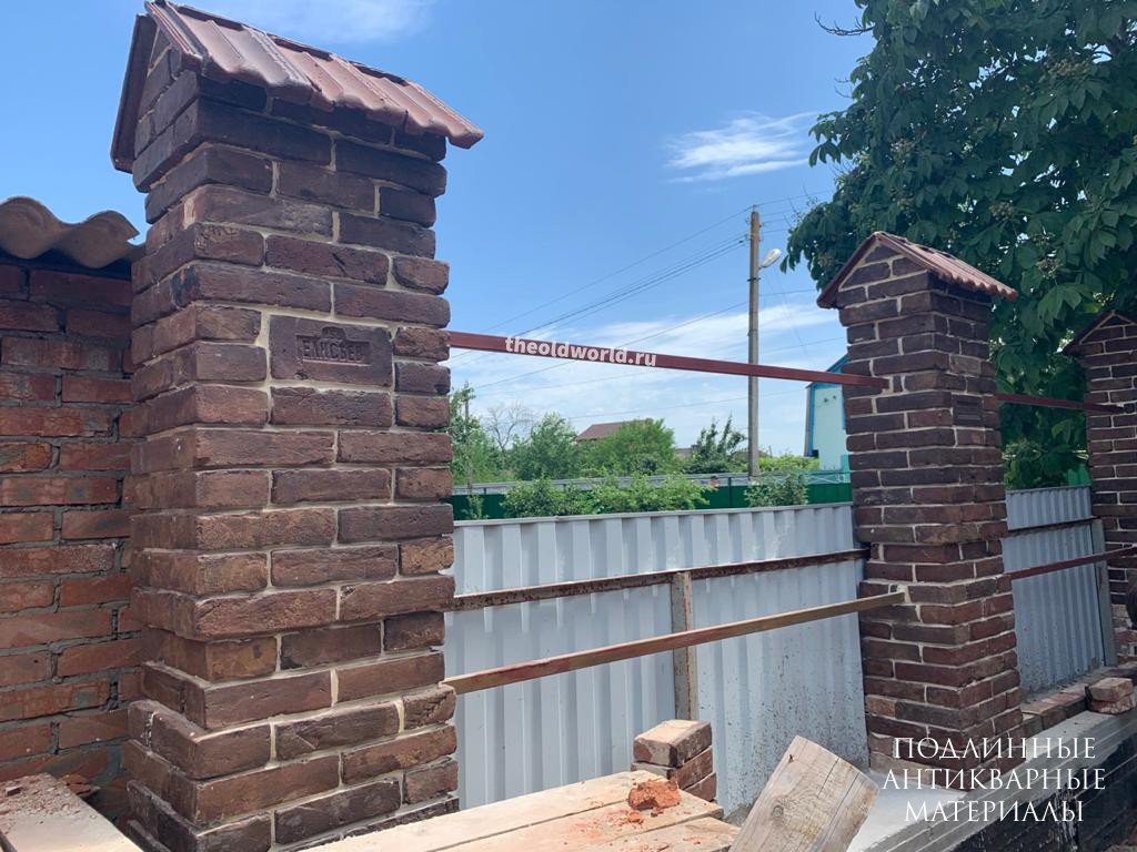 забор старинный кирпич 2