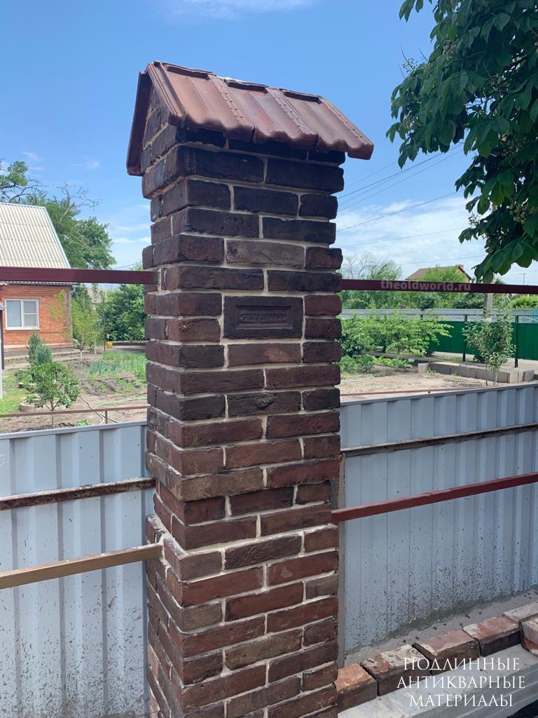 забор старинный кирпич 1