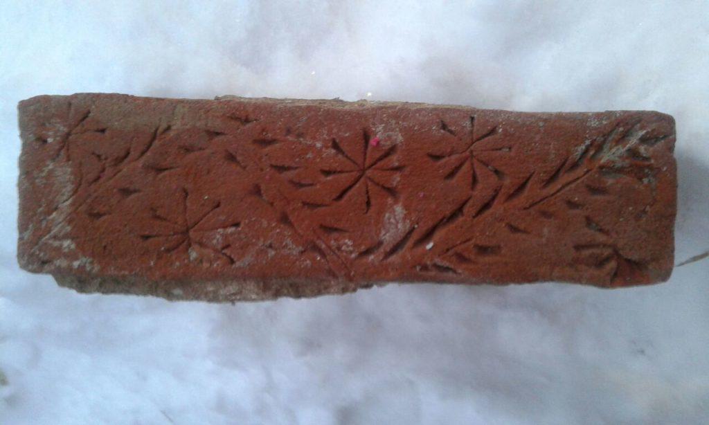 рисунок на старинном кирпиче уфа