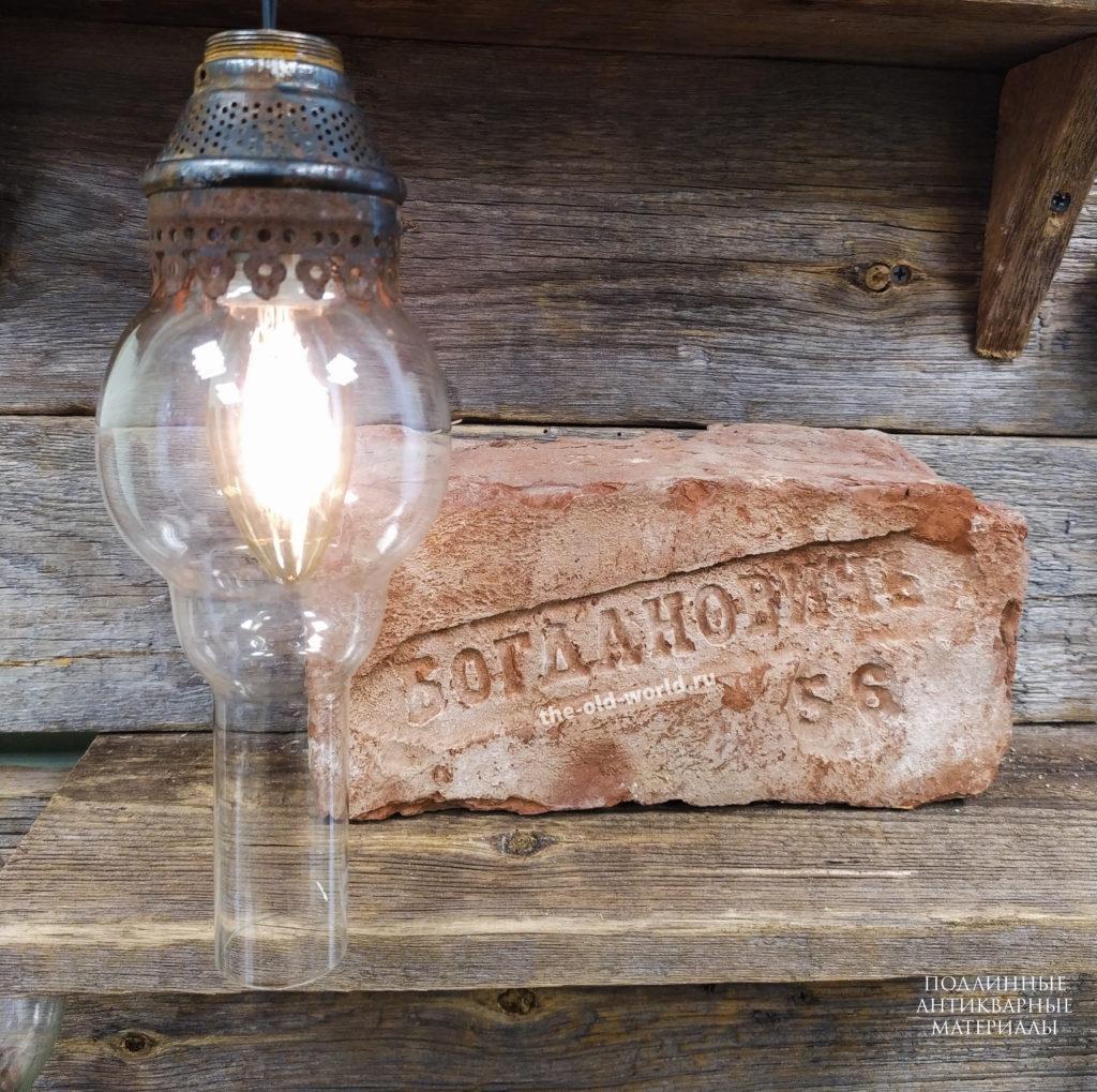 плафон из керосиновой лампы
