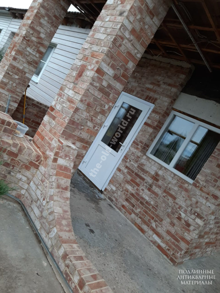 плитка из старинного кирпича дом